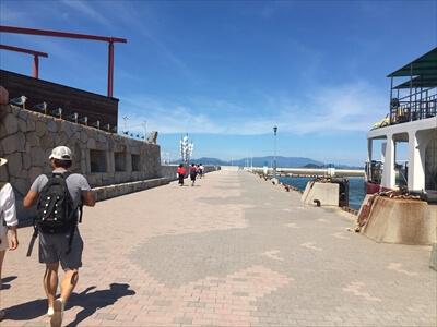 女木島の港