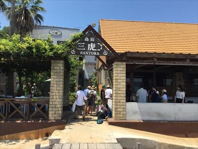 真鍋島入り口の三虎