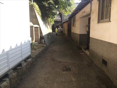 真鍋島の町並み