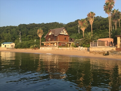 真鍋島の夕暮れ-陸側えお撮影