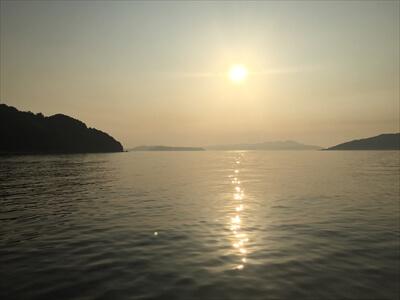 真鍋島の夕焼け