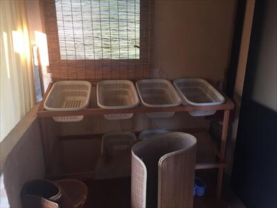 三虎の貸切風呂-脱衣場