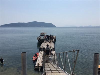 真鍋島の桟橋-帰り