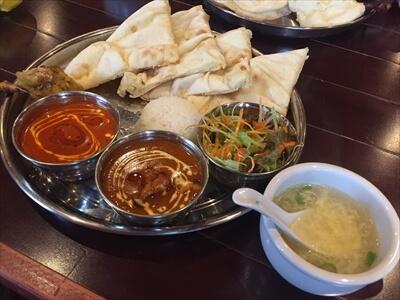 インド料理ムンバイパレスのCセットランチ