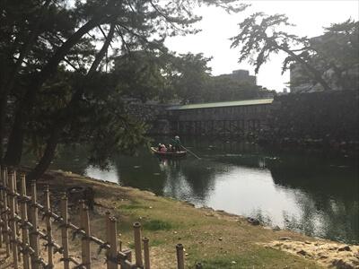 玉藻公園(高松城跡)の渡り舟