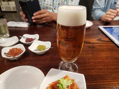 高松の『肉山』のビール