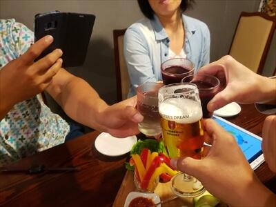 高松の『肉山』で乾杯