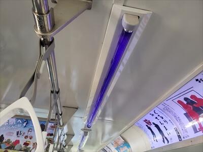 電車貸切りハロウィンイベント-車輌の下見-ブラックライト