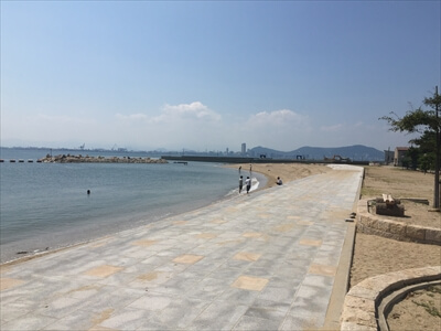 女木島のプライベートビーチ
