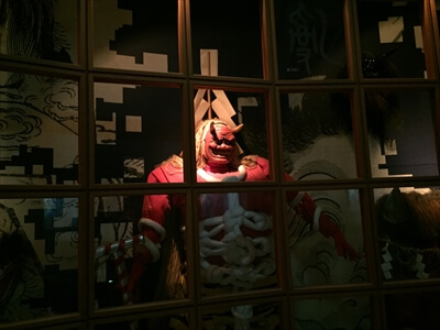 女木島『おにの館』の鬼の間の鬼たち