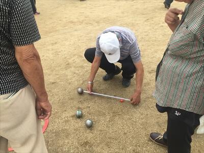 ペタンクのボール距離の計測