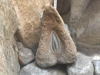 高松の奥座敷さぬき温泉の第1露天風呂の女性器