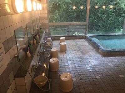 高松の奥座敷さぬき温泉の洗い場