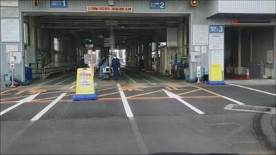 香川車検場の検査レーン