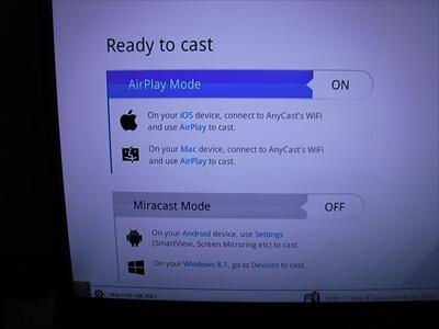 Anycastの『iPhoneモード』『Androidモード』の切り替え