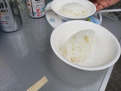 飯ごう炊飯のご飯