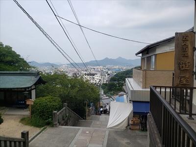 金刀比羅宮-下り階段からの景色