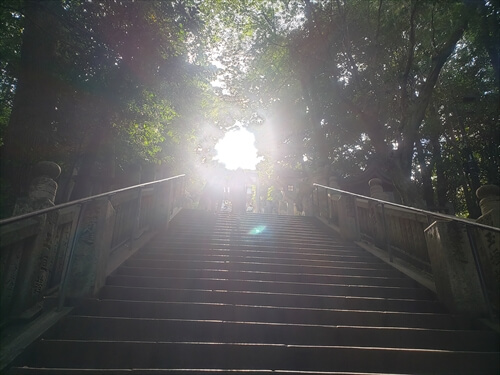 百度石の階段-金刀比羅宮への道中