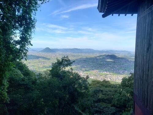 奥社『厳魂神社』からの景色-香川県の金比羅山