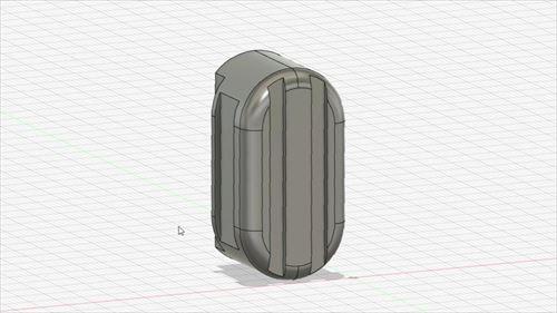 CAD設計-ハイエースのセパレートバー差込口アタッチメント