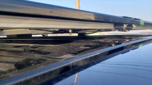 ソーラーパネルの取り付け後の天井との隙間-リア側