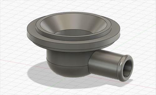 CAD設計-3Dプリンターで作るシンク排水栓アタッチメント