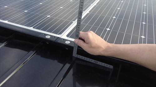 ソーラーパネル-ロールーフ化の高さ