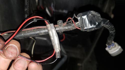ドアミラーカバーのウィンカー線接続-ハイエース3型ヘッドライト
