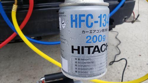冷媒ガスの充填-ハイエースの後付エアコン