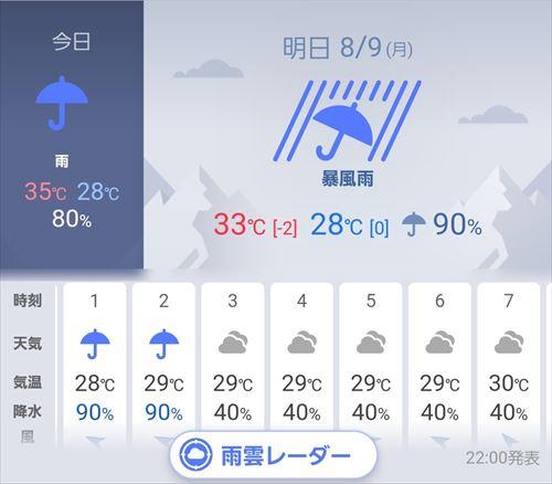 台風&真夏の熱帯夜